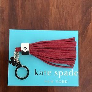 Kate Spade Pocketbook Tassel Key Chain